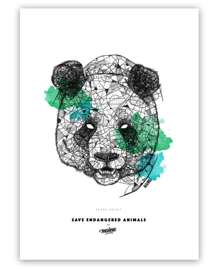 Affiche panda sans cadre