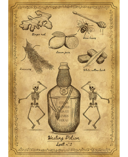 Affiche spell 2 Healing potion